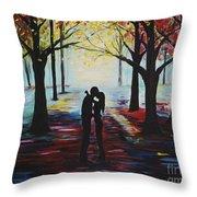 A Romantic Kiss Throw Pillow