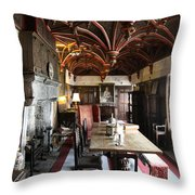 A Room In Bunratty Castle Throw Pillow