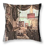 A Room With An Invitation Throw Pillow