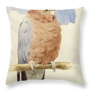 A Rose Breasted Cockatoo Throw Pillow