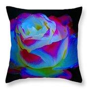 A Rose Enhanced Throw Pillow