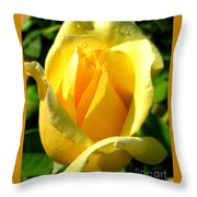 A Rose For My Friend Throw Pillow