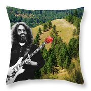 A Rose For The Hills Throw Pillow