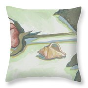 A Rose Is A Rose Except When It's A Shell Throw Pillow