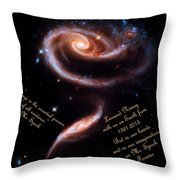 A Rose Made Of Galaxies For Spock Throw Pillow