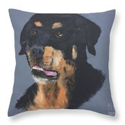 A Rottie Named Thor Throw Pillow