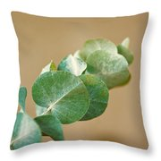 A Row Of Leaves Throw Pillow