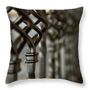 A Row Of Spindle's  Throw Pillow