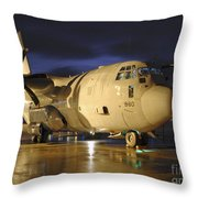 A Royal Air Force C130j Hercules Throw Pillow