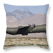 A Royal Air Force C130k Hercules Throw Pillow