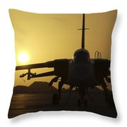 A Royal Air Force Tornado F3 Throw Pillow