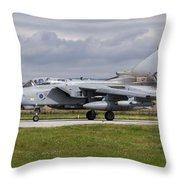 A Royal Air Force Tornado Gr4 Preparing Throw Pillow