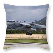 A Royal Air Force Tornado Gr4a Landing Throw Pillow