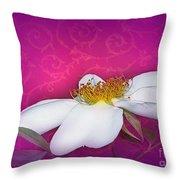 A Royal Rose Throw Pillow