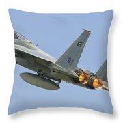 A Royal Saudi Air Force F-15c Throw Pillow