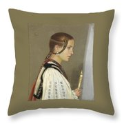A Rumanian Bridesmaid Throw Pillow