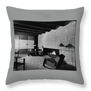 A Rustic Living Room Throw Pillow