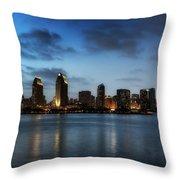A San Diego Evening Throw Pillow