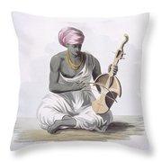 A Sarinda, Or Hindostan Type Violin Throw Pillow