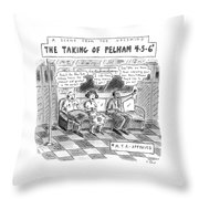 A Scene From The Upcoming The Taking Of Pelham Throw Pillow