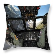A Seaking Mk 4 Helicopter  Throw Pillow
