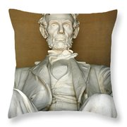 A Seated Abe Lincoln Throw Pillow
