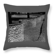 A Serpentine Brick Wall Throw Pillow