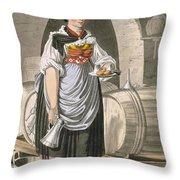 A Serving Girl At An Inn Throw Pillow