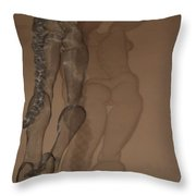 A Shadow Of Her Form Er Self Throw Pillow