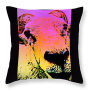 What Is So Sheep About A Kiss Throw Pillow
