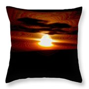 A Shimmer Off The Water Throw Pillow