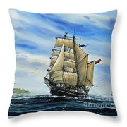 A Ship There Is Throw Pillow