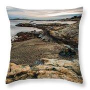 A Shot Of An Early Morning Aquidneck Island Newport Ri Throw Pillow