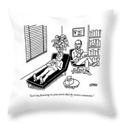 A Shrink Consults His Patient About What Seems Throw Pillow