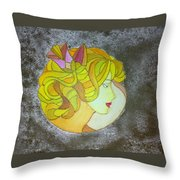 A Shy Lady Throw Pillow