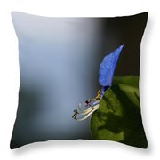A Side Of Commelina Communis  Throw Pillow