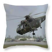 A Sikorsky S-61a4 Helicopter Throw Pillow