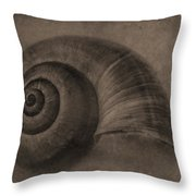 A Simple Home In Sepia Throw Pillow by Jeff Swanson