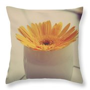 A Simple Thing Throw Pillow by Laurie Search