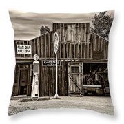 A Simpler Time 3 Monochrome Throw Pillow