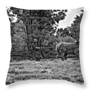 A Simpler Time Bw Throw Pillow