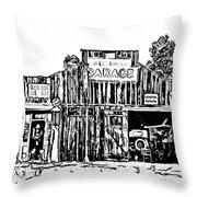 A Simpler Time Line Art Throw Pillow by Steve Harrington