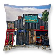 A Simpler Time Painted Version Throw Pillow