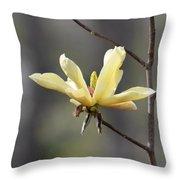 A Single Bloom Throw Pillow