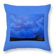 A Single Candle Throw Pillow