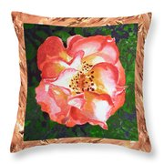 A Single Rose The Dancing Swirl  Throw Pillow