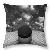 A Single Window Bw North Shore Yacht Club Salton Sea Throw Pillow