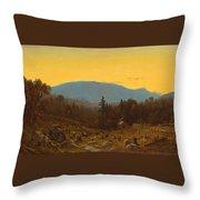 A Sketch Of Hunter Mountain. Catskills. Twilight On Hunter Mountain Throw Pillow