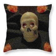 A Skull In The Dark Pop Art Throw Pillow