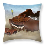 A Slow Death In Piano Valley - Panoramic Throw Pillow